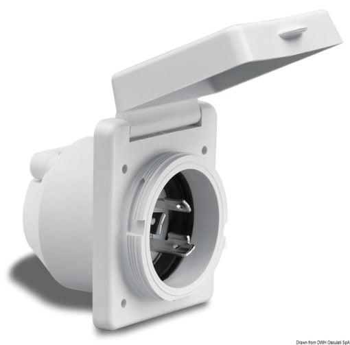 Marinco 4-wire triophase socket AISI 316 - Artnr: 14.487.09 13