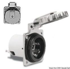 Marinco 4-wire triophase socket AISI 316 - Artnr: 14.487.09 25