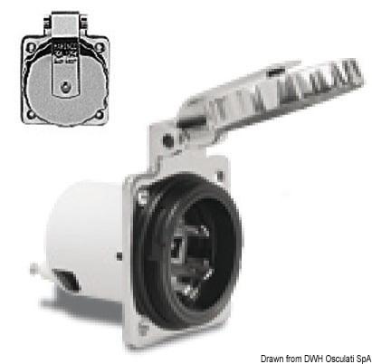 Marinco 4-wire triophase socket AISI 316 - Artnr: 14.487.09 12