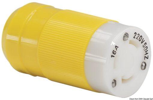 Marinco 4-wire triophase socket AISI 316 - Artnr: 14.487.09 10