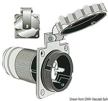 Marinco 4-wire triophase socket AISI 316 - Artnr: 14.487.09 3