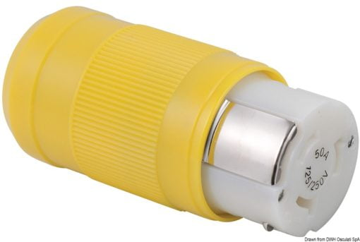 Marinco 4-wire triophase socket AISI 316 - Artnr: 14.487.09 8
