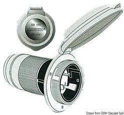 Marinco 4-wire triophase socket AISI 316 - Artnr: 14.487.09 19