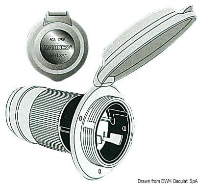 Marinco 4-wire triophase socket AISI 316 - Artnr: 14.487.09 6