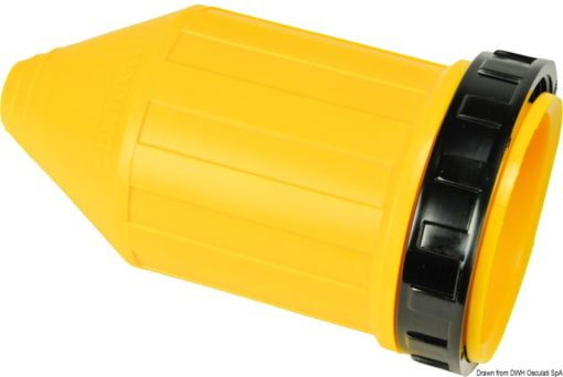 Marinco 4-wire triophase socket AISI 316 - Artnr: 14.487.09 4