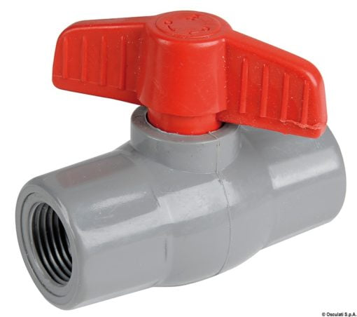 "Polypropylene/nylon ball valve 1/2"" - Artnr: 17.233.02 3"