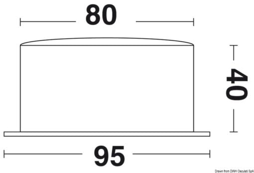 Vion A80 MIC CHR quartz clock radio sector silence - Artnr: 28.903.81 5
