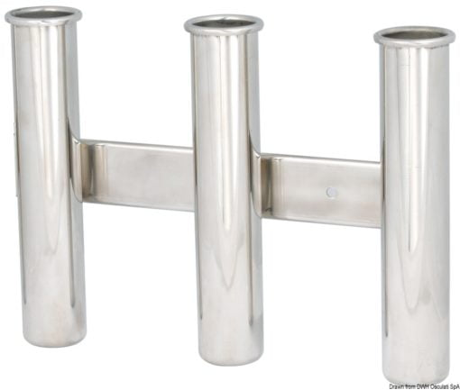 Wall mounting rod holder AISI 316 Nr. 3 rods - Artnr: 41.167.80 3
