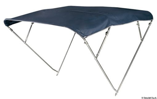 4-arc bimini high AISI316 170/180 cm blue navy - Artnr: 46.921.20 3