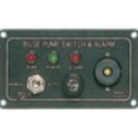 Bilge pump panels and alarm systems