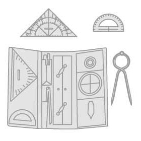Instrumenten om kaarten te lezen en clinometer