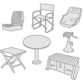 48 - Stoelen, tafels, poten, roll bars en bekerhouders
