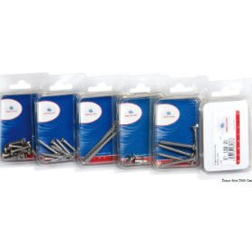 Bolts and screws in packs